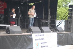 Feier der Berliner Vereinigung der Verfolgten des Naziregimes und des Bundes der Antischfastinnen und Antifaschisten